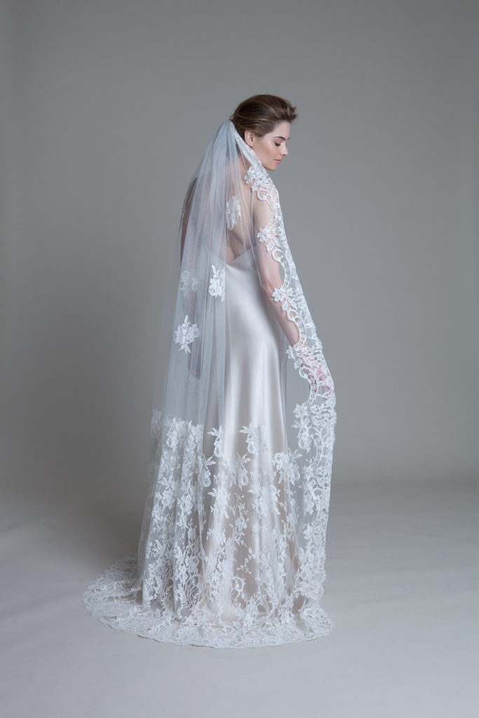 Wearing a veil like this one from the fabulous Halfpenny London will be a big factor in choosing your wedding hairstyle.