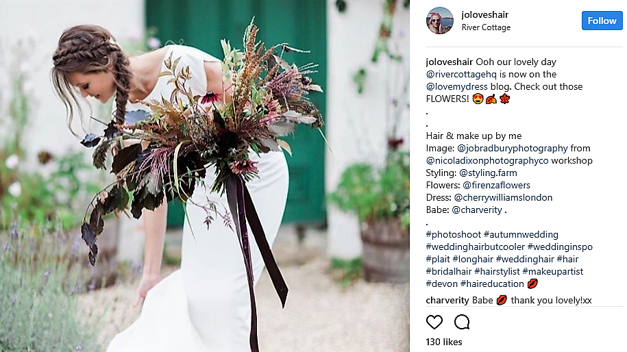 Jo Irving Instagram Wedding Hair All Star and creative director at Lovehair & Co